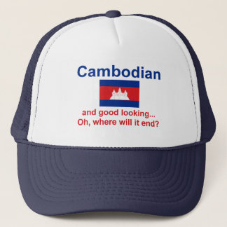 Schöner Kambodschaner Truckerkappe