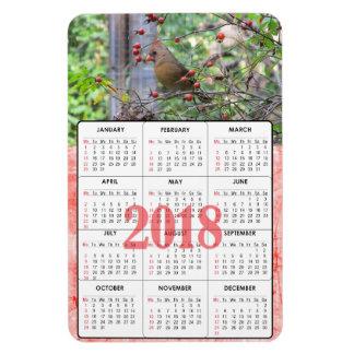 Schöner Kardinal auf Kalender-Magneten der Magnet