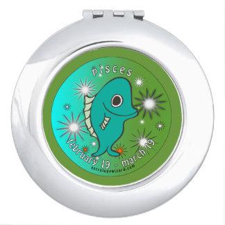Schöner kompakter Spiegel Fische für den Tag der Taschenspiegel