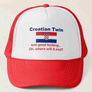 Schöner kroatischer Zwilling Truckerkappe