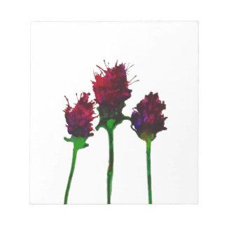 Schöner lila Blumen-Entwurfs-Notizblock Notizblock