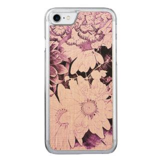 Schöner lila und weißer Blumenentwurf Carved iPhone 8/7 Hülle