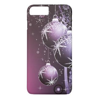 Schöner lila Weihnachtsentwurf iPhone 8 Plus/7 Plus Hülle