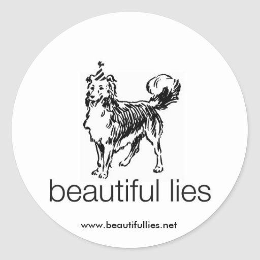 Schöner Lügen-Hundegroßer Aufkleber