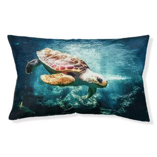 Schöner Meeresschildkröte-Ozean-Unterwasserbild Haustierbett