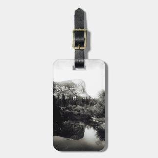 Schöner Mirror See Yosemite | Schwarzweiss Gepäckanhänger