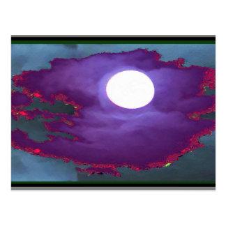 Schöner   Mondschein-Himmel Postkarten