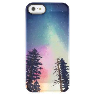 Schöner nächtlicher Himmel, der bis zu den Himmeln Permafrost® iPhone SE/5/5s Hülle
