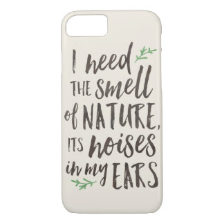 Schöner Natur-Typografie-Apple iPhone Fall iPhone 8/7 Hülle