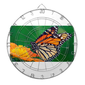 Schöner orange Monarchfalter Dartscheibe