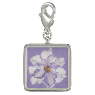 Schöner Orchideen-Lavendel Foto Anhänger