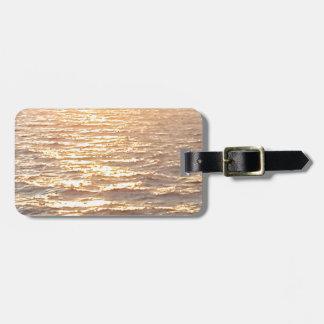 Schöner Ozean-goldener Stunden-Sonnenaufgang Kofferanhänger