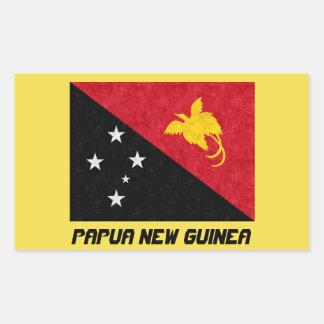 Schöner Papua-Neu-Guinea Flaggen-Aufkleber Rechteckiger Aufkleber