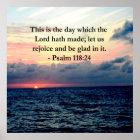 SCHÖNER PSALM-118:24 SONNENAUFGANG ÜBER DEM OZEAN POSTER
