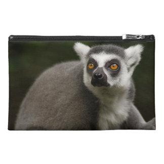 Schöner Ring angebundener Lemur Reisekulturtasche