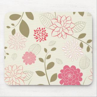 Schöner rosa Retro Vektor Browns Mousepad