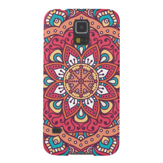 Schöner roter BlumeMandala Samsung Galaxy S5 Hülle