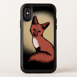 Schöner roter Fox OtterBox Symmetry iPhone X Hülle