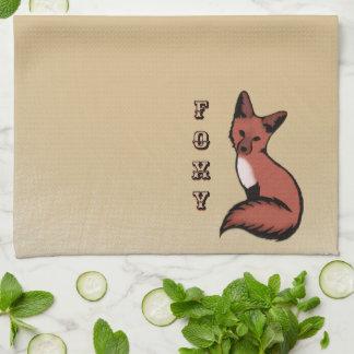 Schöner roter Foxy Fox Handtuch