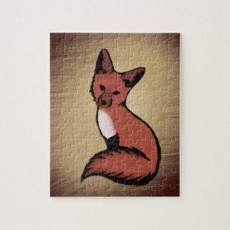 Schöner roter Foxy Fox Puzzle