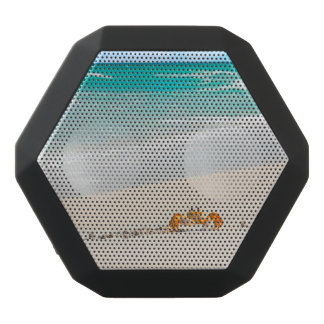 Schöner Sandystrand und -krabbe Schwarze Bluetooth Lautsprecher