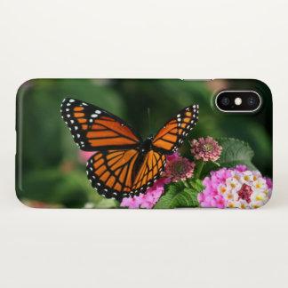 Schöner Schmetterling auf Lantana-Blume iPhone X Hülle