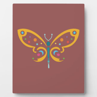 Schöner Schmetterling Fotoplatte