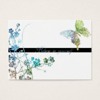 Schöner Schmetterling mit Enouraging Mitteilung Visitenkarte