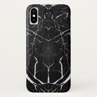 Schöner schwarzer Marmor iPhone X Hülle