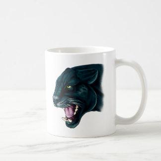 Schöner schwarzer Panther Kaffeetasse