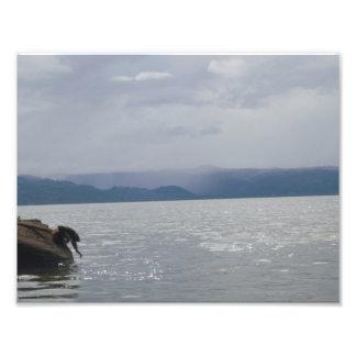 Schöner See Fotodruck