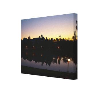Schöner Sonnenaufgang - Orlando-Erholungsort Leinwanddruck