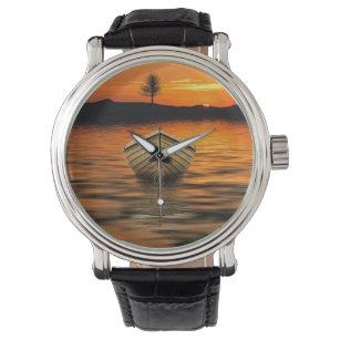 Schöner Sonnenuntergang Armbanduhr