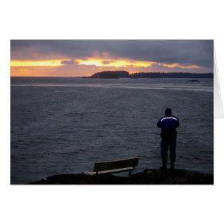 Schöner Sonnenuntergang auf dem Ozean für Karte