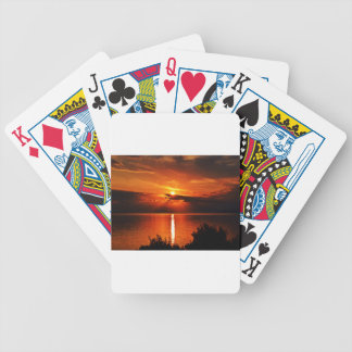 Schöner Sonnenuntergang Bicycle Spielkarten