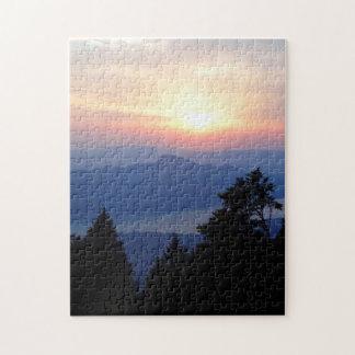 Schöner Sonnenuntergang in Frankreich schwierig Puzzle
