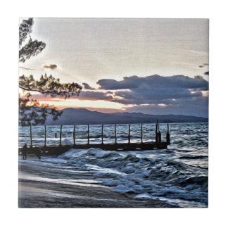 Schöner Sonnenuntergang in Montego Bay, Jamaika Fliese