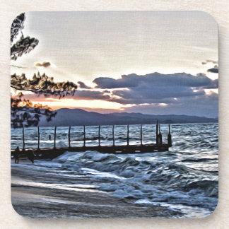 Schöner Sonnenuntergang in Montego Bay, Jamaika Getränkeuntersetzer
