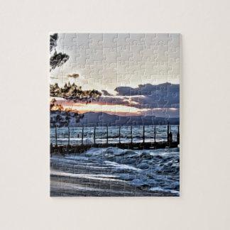 Schöner Sonnenuntergang in Montego Bay, Jamaika Puzzle