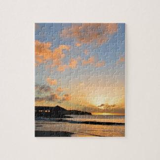 Schöner Sonnenuntergang Puzzle