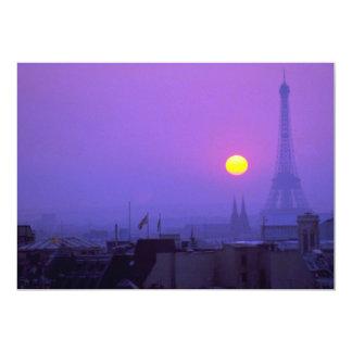 Schöner Sonnenuntergang: Roter Sonnenuntergang auf 12,7 X 17,8 Cm Einladungskarte