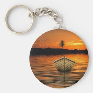 Schöner Sonnenuntergang Schlüsselanhänger