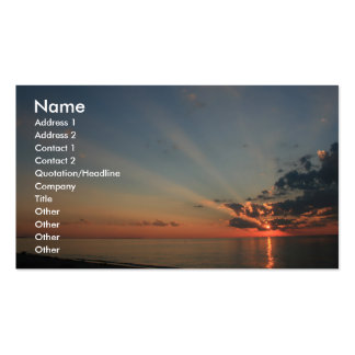 Schöner Sonnenuntergang Visitenkartenvorlagen