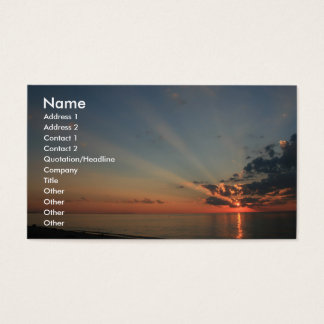 Schöner Sonnenuntergang Visitenkarten