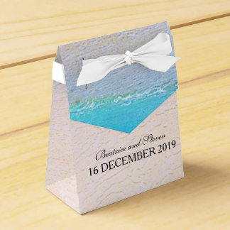 Schöner Strand/Hochzeit in Urlaubsort Geschenkkarton