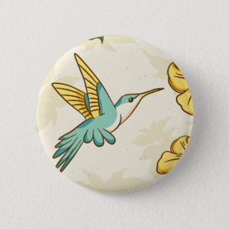 Schöner Summenvogel als Beschaffenheit Runder Button 5,7 Cm