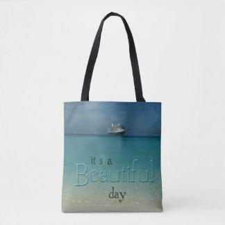 """""""Schöner Tages"""" klarer karibischer Wasser-Strand Tasche"""