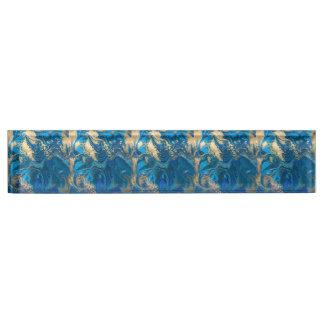Schöner, tiefer blauer Marmor, Gold, digitales Namensplakette