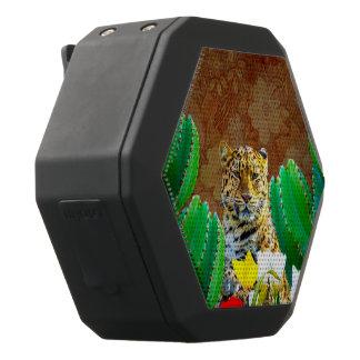 Schöner Tiger-Kaktus-Blumenszene Schwarze Bluetooth Lautsprecher