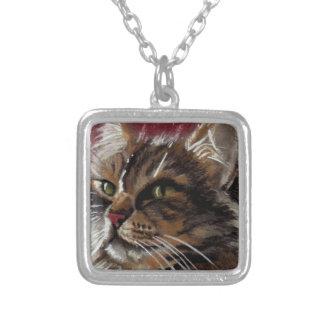 Schöner Träumer - Maine-Waschbär-Katzen-Schmuck Versilberte Kette